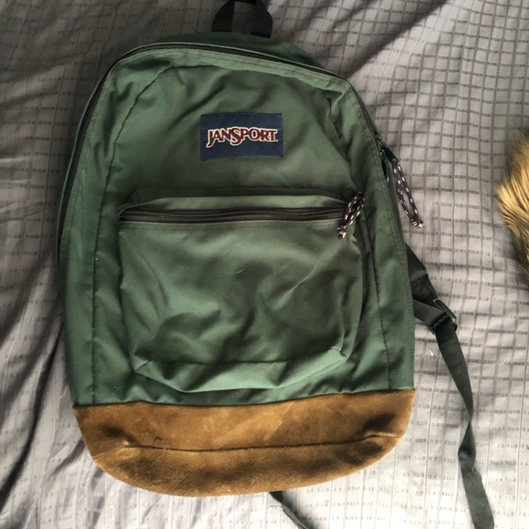 to buy clear-cut texture select for official 🌲Jansport || Forest Green Backpack🌲